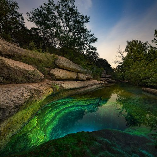 Jacob's Well in the Moonlight