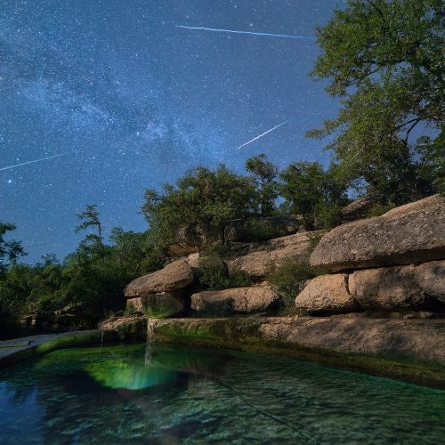 Shooting Stars at Jacob's Well