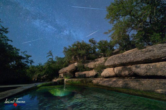 Shooting Stars at Jacob's Well